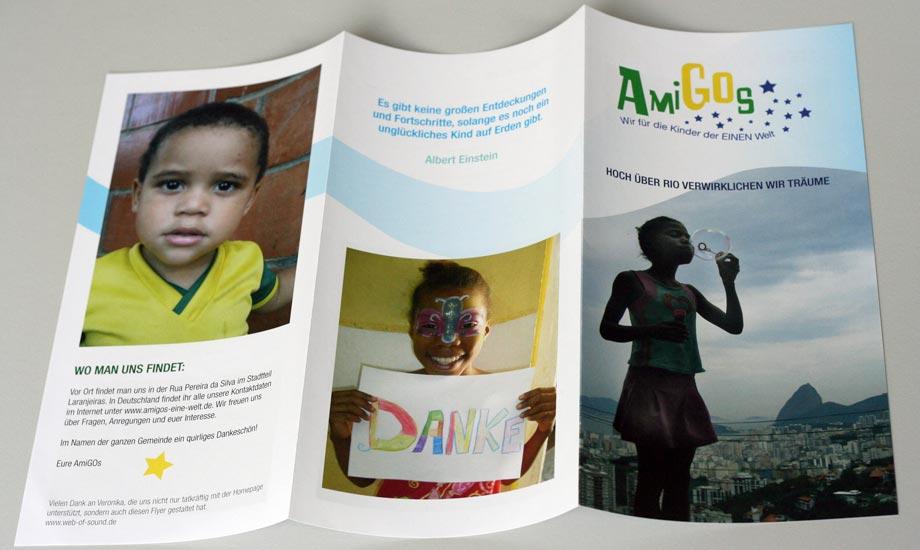 Grafikdesign Broschüre AmiGOs