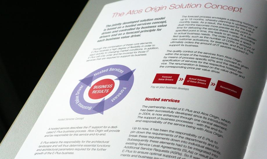 Grafikdesign Broschüre Atos Origin