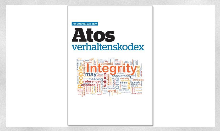 Grafikdesign Broschüre Atos