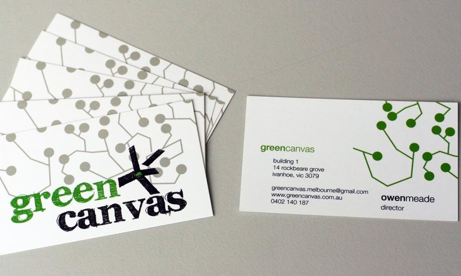 Design Visitenkarte Green Canvas