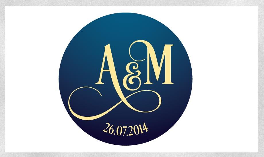 Design Monogramm zur Hochzeit
