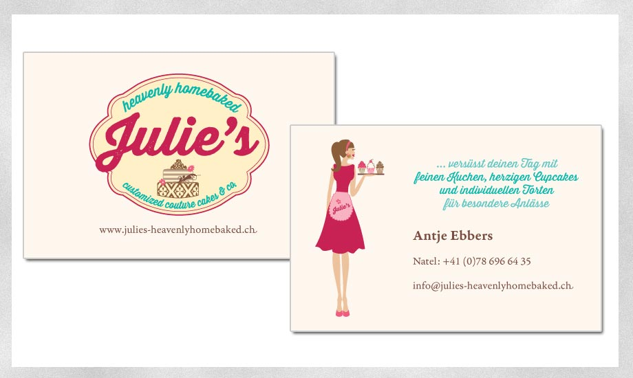 Design Visitenkarte Julie's