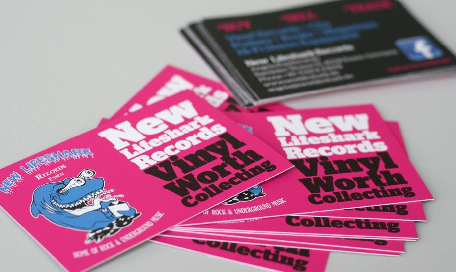 Design Visitenkarten New Lifeshark Records