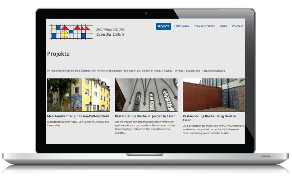 Webdesign Webseite Dahm Architektur