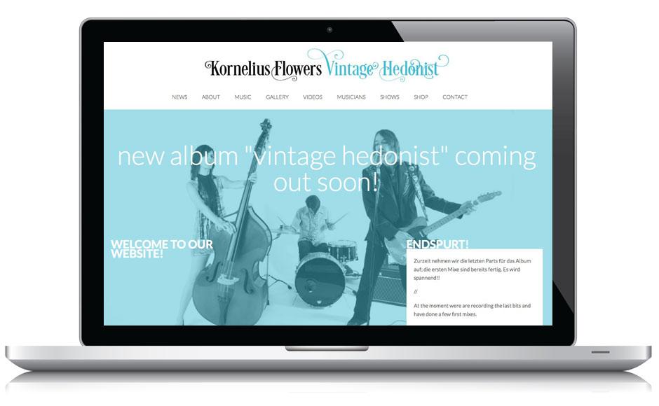 Webseite Kornelius Flowers
