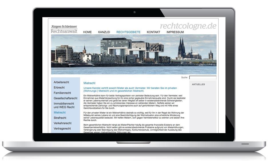 Webseite Recht Cologne