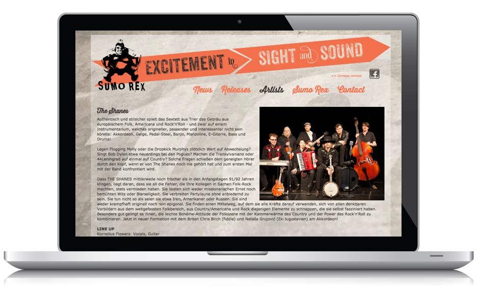Webseite Sumo Rex Records