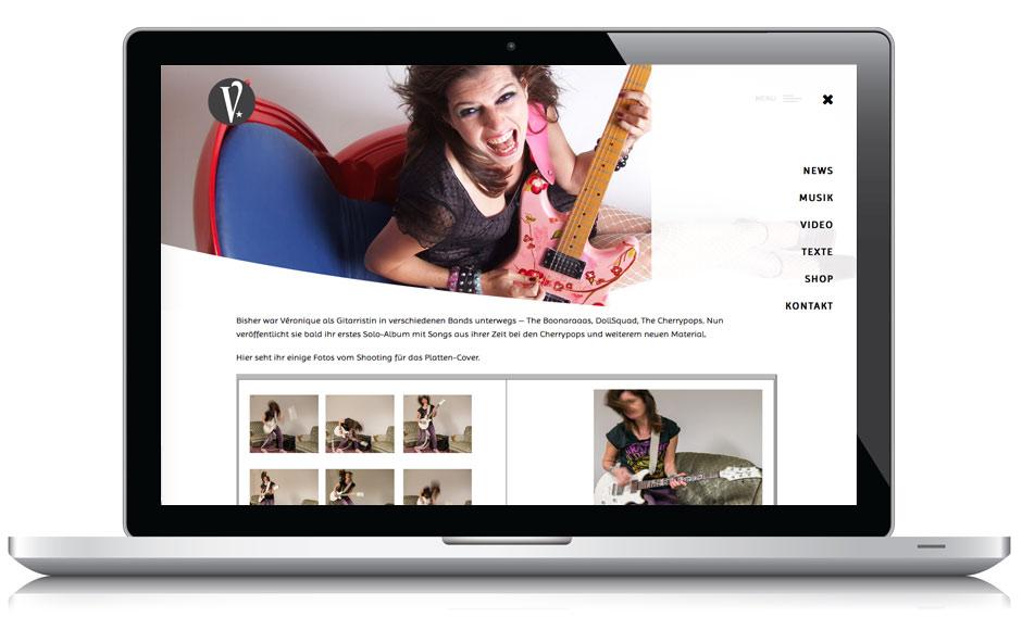 Webdesign Webseite Véronique de la Chanson