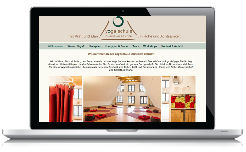 Webdesign Webseite Yogaschule Rostock