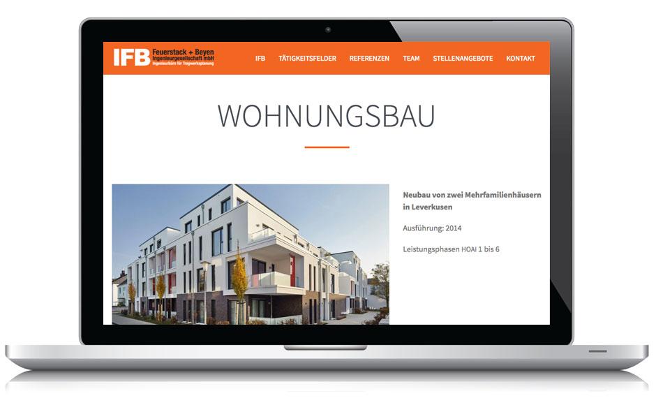 Webdesign Webseite IFB Ingenieurbüro Düsseldorf