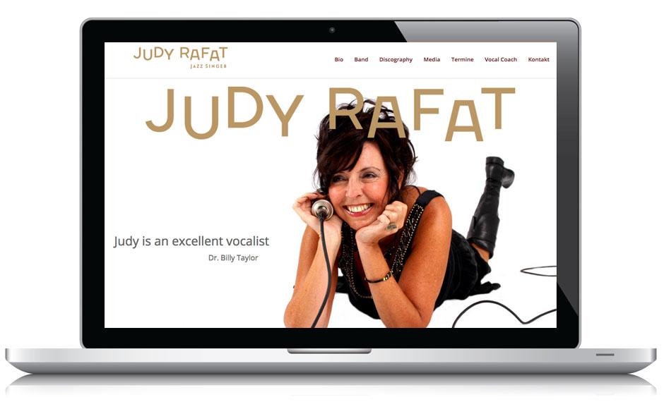 Webdesign Webseite Judy Rafat