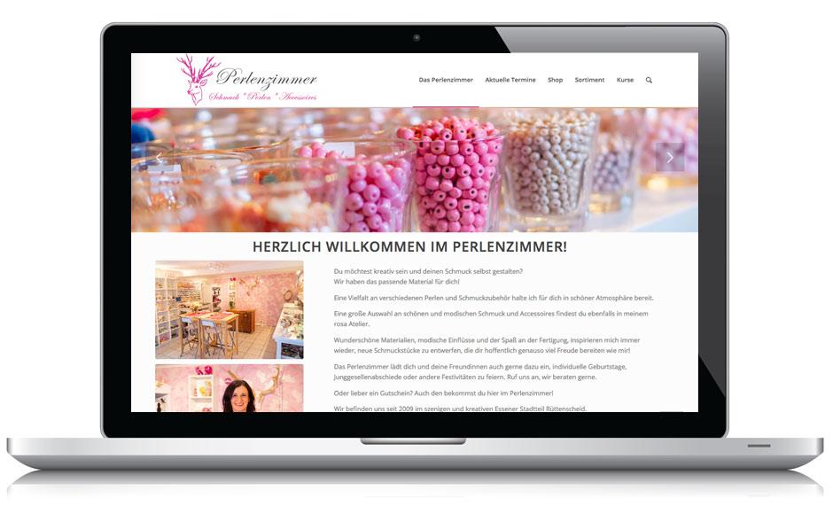 Webdesign Webseite Perlenzimmer Essen