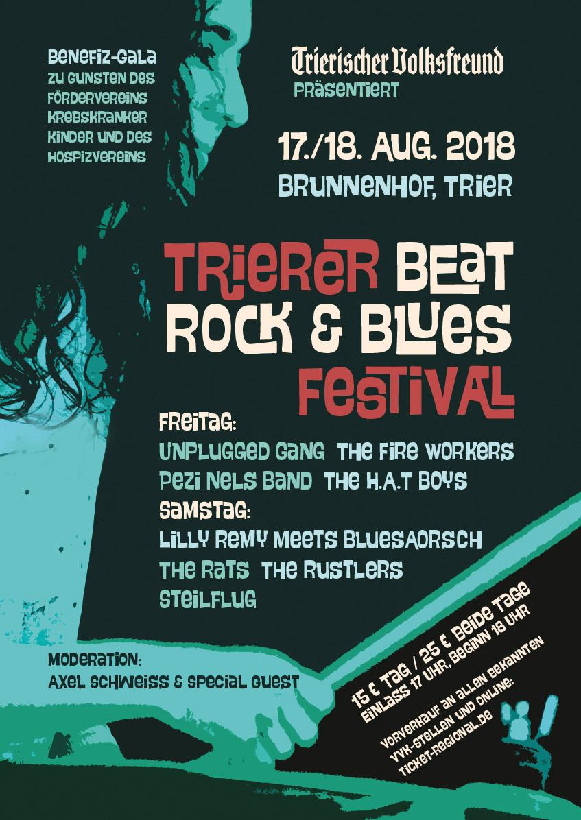 Poster Design Trierer Beat Rock & Blues Festival